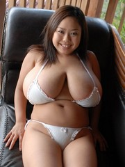 Japanese model with gigantic natural..